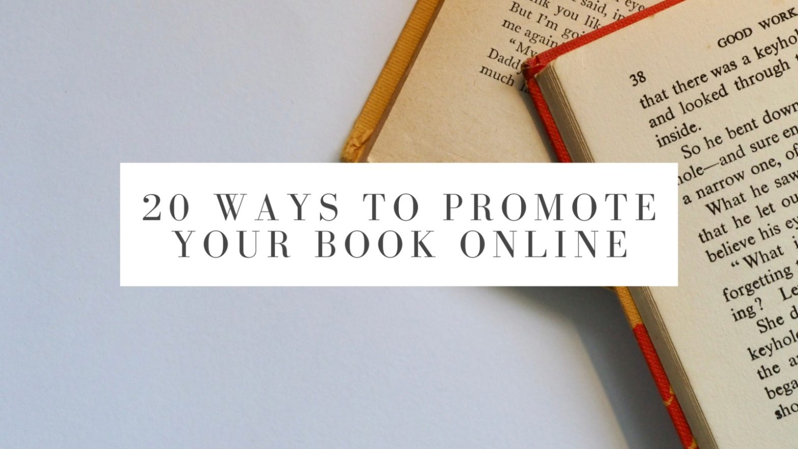 ways to promote your book online