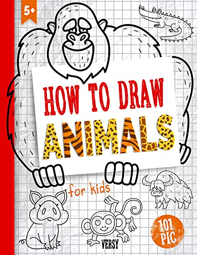 How to Draw Animals: Draw step-by-step book for kids